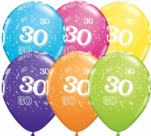 30th Birthday - 11 Inch Balloons 25pcs